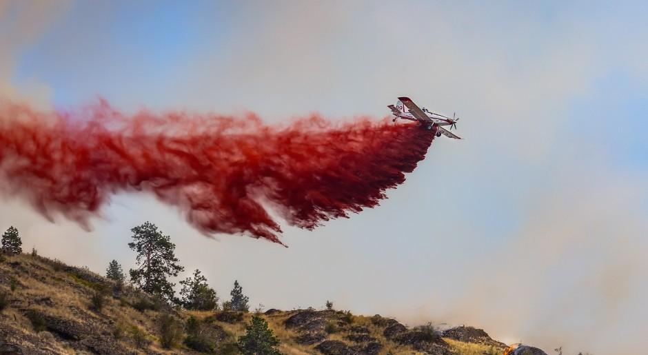 Mt. Boucherie fire by Ronald Mullins