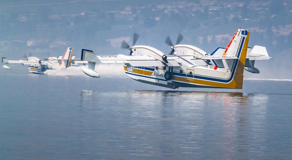 Okanagan Lake during Kelowna Fire 2015 by Ronald Mullins 202 and 203